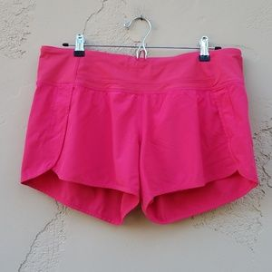 Lululemon Pink Run Times Short Size 10 Workout